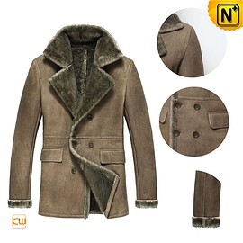 CWMALLS - CWMALLS® Wellington Double Breasted Sheepskin Jacket CW877206 [Custom Gift, Made-to-Order]