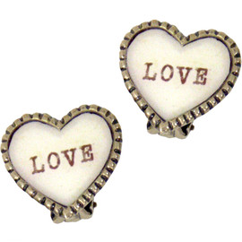 katie - SWEET HEART clip earring LOVE