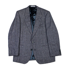 YVES SAINT-LAURENT - Vintage Yves Saint Laurent Windowpane Check Wool Sport Coat Made in France Mens Size 40S