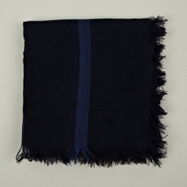 JIL SANDER - Border Stripe Cotton Scarf