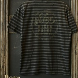 "OLD JOE & CO. - 11S/S Tシャツ ""MIXED PAINT"" - FAKE BLACK"