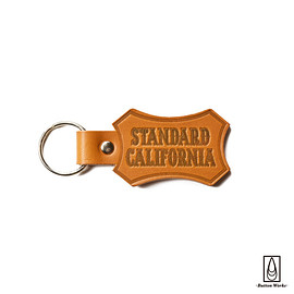 Button Works, Standard California - Button Works × SD Shield Logo Leather Key Holder