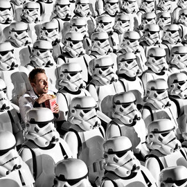 Star Wars - storm troopers watching the movie