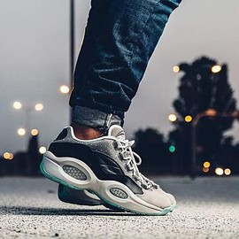 Reebok - REEBOK QUESTION LOW R13 BLACK/TAR/CARBON/WHITE/AQUA VAPOR