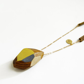 son of a sailor - wood and leather necklace