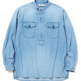 nonnative - WORKER PULLOVER SHIRT RELAXED FIT COTTON 8oz DENIM