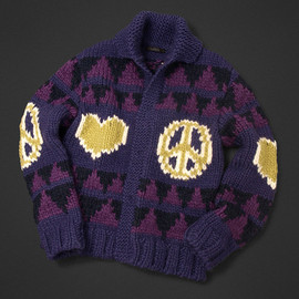 ultra BRAND - LOVE & PEACE Cowichan sweater