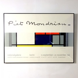 Max Bill - Poster for the Piet Mondrian Exhibition at Berlin Museum in 1968