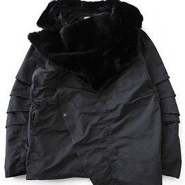 TOGA PULLA - Polyester OX Coat 3 (black)