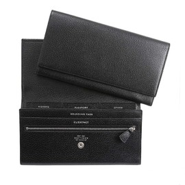 Smythson - Marshall Travel Wallet, Black Pigskin Collection