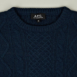 A.P.C. - Arran Knitted Jumper in Blue