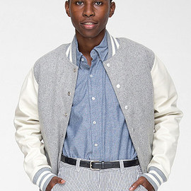 American Apparel - Wool Club Jacket Leather Sleeves