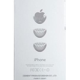 "CEMENT PRODUCE DESIGN, iTattoo - ""Dress it"" for iPhone5 White & Silver"