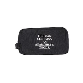 FORTY PERCENTS AGAINST RIGHTS - Anarchist Goodies Travel Kit Bag - Black
