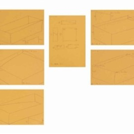 Donald Judd - 6 works: Untitled (Study for Kunsthalle Bern, 1976)