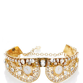 DOLCE & GABBANA - FW2016 Gold Collar With Crystal Embellishment