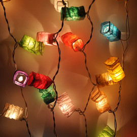 ginew - Colourful mulberry paper Geometry spring Lanterns