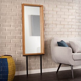 Sawa - Leaning Mirror in Gray and Black