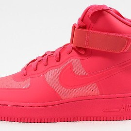 Nike - Air Force 1 Hi Hyperfuse Premium Solar Red / Solar Red