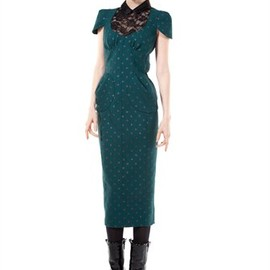 MARC JACOBS - Double Face Stretch Crepe Dress with Glitter Dots
