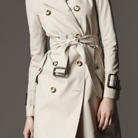 Burberry - KNEE-LENGTH COTTON POPLIN TRENCH COAT
