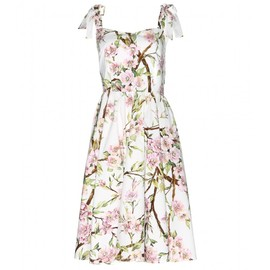 DOLCE&GABBANA - FLORAL-PRINT COTTON DRESS