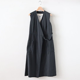 YAECA - WRAP COAT S/L #BLACK