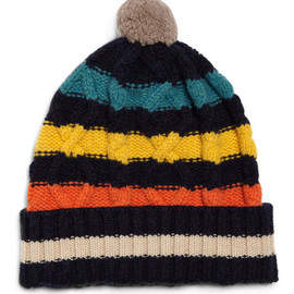Paul Smith Shoes - Striped Wool Bobble Hat