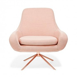 Softline - Apricot Swivel Curved Chair