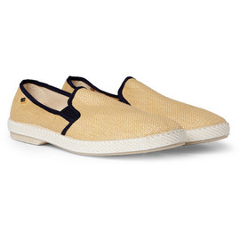 Rivieras - Raffia Mesh Slip-On Shoes