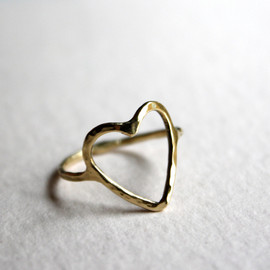 RachelPfefferDesigns - 14k Gold Open Heart Ring