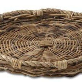 williams sonoma - luzon woven round tray