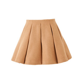 beautiful people - melange fine melton tuck flare skirt