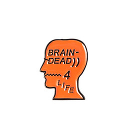 BRAIN DEAD - BRAIN DEAD-4-LIFE PIN - ORANGE