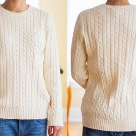 RALPH LAUREN - white cable sweater
