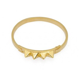 TOM BINNS - GOLD BANGLE WITH FOUR STUDS