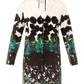 CÉDRIC CHARLIER - Printed satin cotton coat