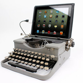 USB Typewriter Computer Keyboard -- Grey Royal Portable