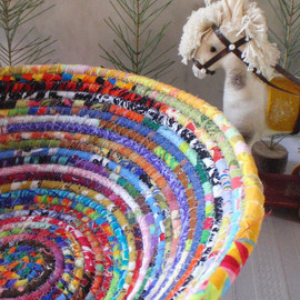 YellowViolet  - Coiled Basket - Gypsy