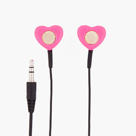 MARC BY MARC JACOBS - MARC BY MARC JACOBS Pink Heart Volume Control Earbuds