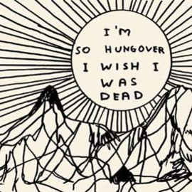 David Shrigley - HUNGOVER ポストカード