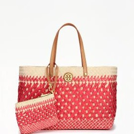 TORY BURCH - SMALL STRAW SQUARE TOTE