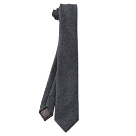 無印良品 - Wool Solid Tie/Charcoal Gray