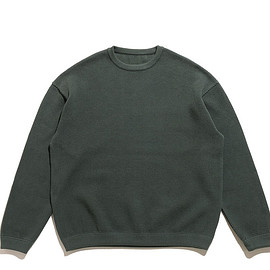 crepuscule - Moss Stitch L/S Sweat-Green