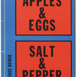 Lawrence Weiner - Apples & Eggs, Salt & Pepper