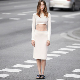 zara - ASYMMETRIC CROP TOP PENCIL SKIRT