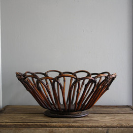 vintage bent wood bowl