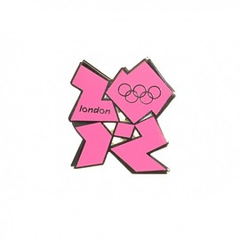 London 2012 Olympic Logo Pin Badge (Pink)