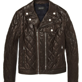Gucci  - Quilted Leather Biker Jacket