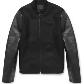 ALEXANDER WANG - Alexander Wang Bonded-Leather and Wool-Blend Bomber Jacket